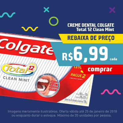 Creme Dental Colgate Total Clean Mint