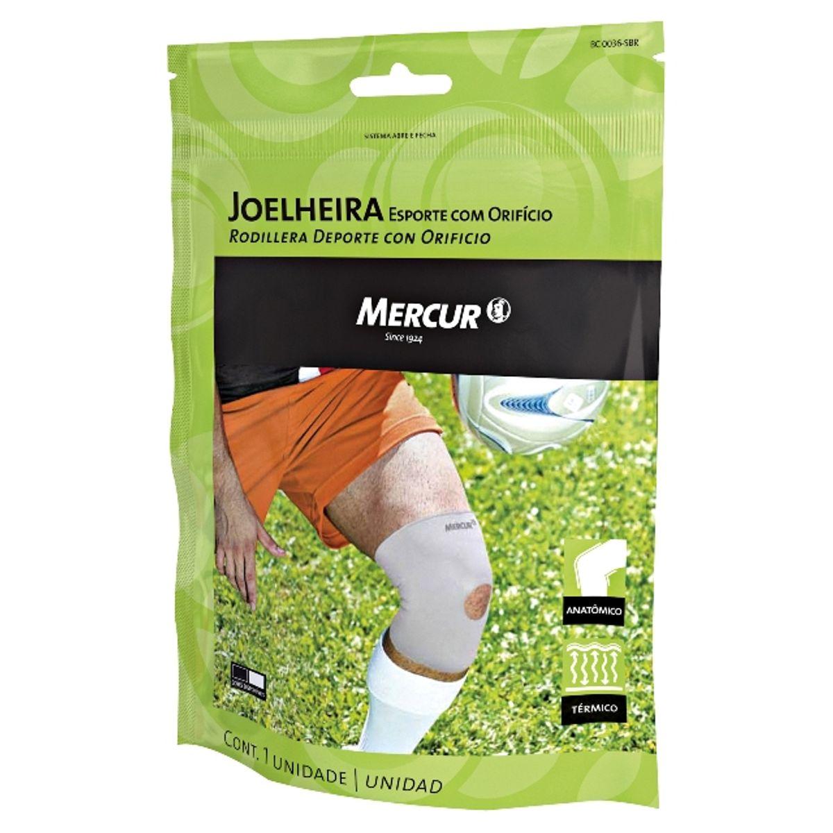 50ba2e173 Joelheira Mercur Sport Com Orifício Tamanho M - Farmacias Pague Menos