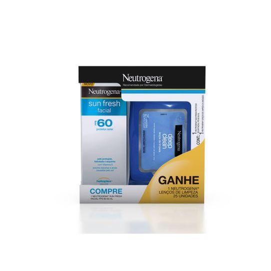 protetor-solar-neutrogena-sun-fresh-facial-fps30-50ml-gratis-lencos-demaquilantes-neutrogena-deep-clean-com-25-unidades-principal