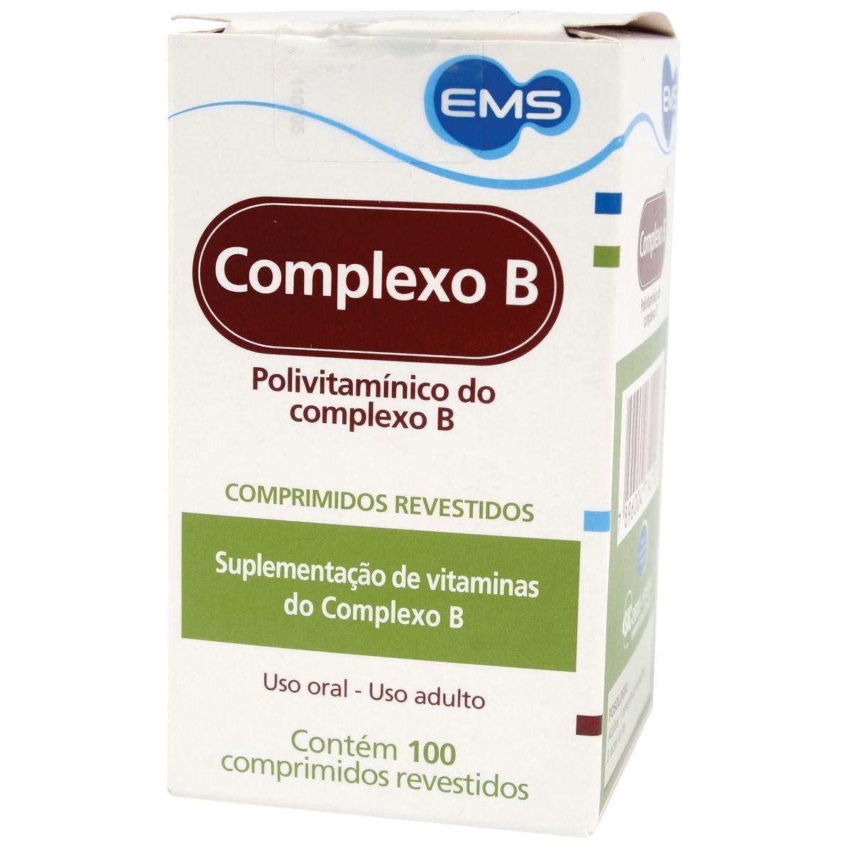 381cce29e Complexo B Com 100 Comprimidos Revestidos Ems - Farmacias Pague Menos