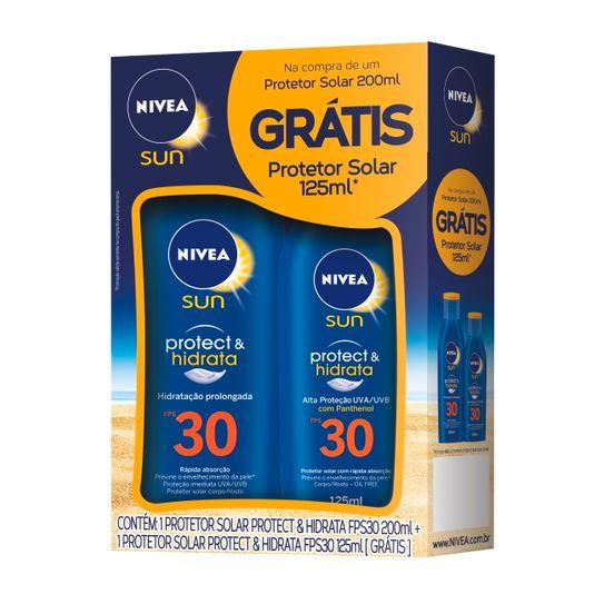 protetor-solar-nivea-sun-protect-hidrata-fps30-200ml-gratis-protetor-solar-nivea-sun-protect-hidrata-fps-30-125ml-principal