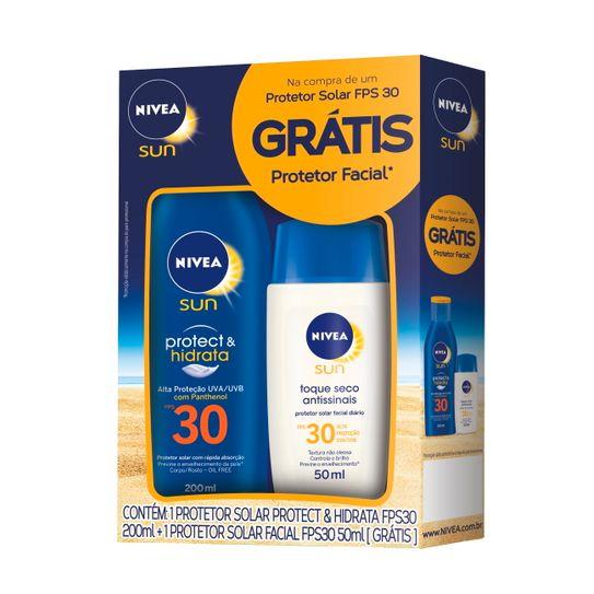 protetor-solar-nivea-sun-protec-hidrata-fps-30-200ml-gratis-protetor-solar-nivea-sun-facial-fps-30-toque-seco-antissinais-50ml-principal