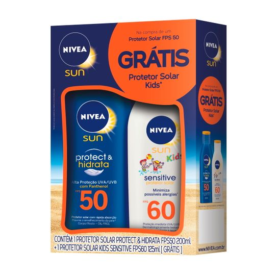 protetor-solar-nivea-sun-protect-hidrata-fps-50-200ml-gratis-protetor-solar-nivea-sun-kids-sensitive-fps60-125ml-principal