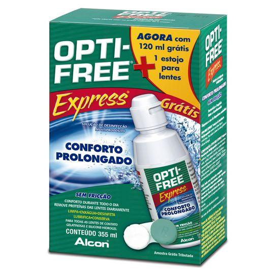 ce4cf7f1a2709 Opti Free Express 355ml Grátis Opti Free Express120ml + Estojo Para ...