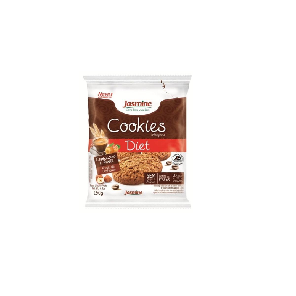 4d612e9a4 Biscoito Jasmine Integral Cookies Zero Açúcar Cappuccino E Avelã ...