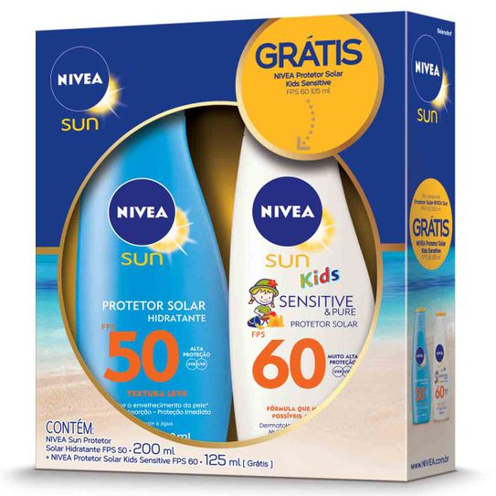 protetor-solar-nivea-light-feeling-fps50-200ml-gratis-protetor-solar-nivea-kids-sensitive-pure-fps60-125ml-principal