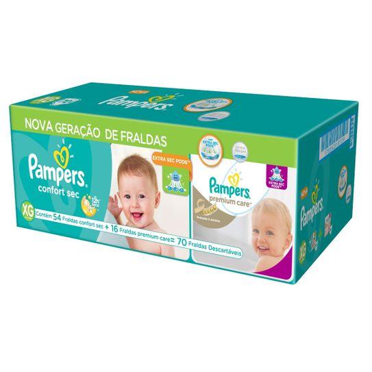 fralda-pampers-confort-sec-tamanho-xg-com-54-unidades-mais-fralda-pampers-premium-care-xg-com-16-unidades-principal