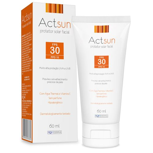 Actsun Protetor Solar Facial Fps30 60ml