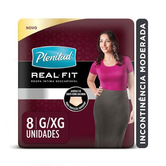 roupa-intima-descartavel-plenitud-real-fit-mulher-tamanho-g-xg-com-8-unidades-principal