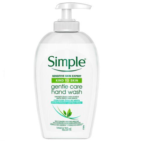 Sabonete Líquido Para Mãos Simple Gentle Care Hand Wash Óleo De Menta 250ml