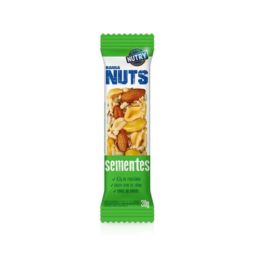 Cereal Barra Nutry Nuts Sementes 30g