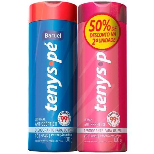 kit-desodorante-tenys-pe-baruel-original-po-100g-com-02-unidades-com-50porcento-de-desconto-na-2-unidade-principal