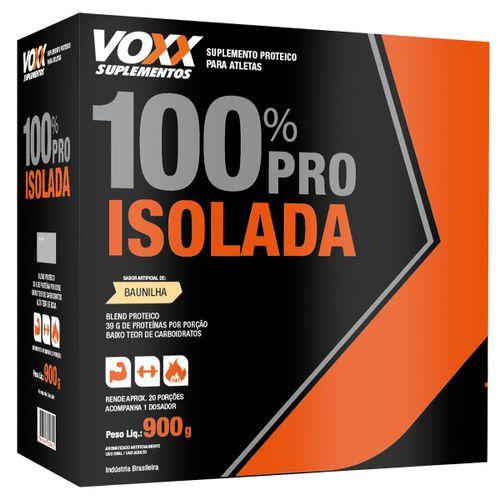 Voxx 100% Pro Whey Isolada Sabor Baunilha 900g