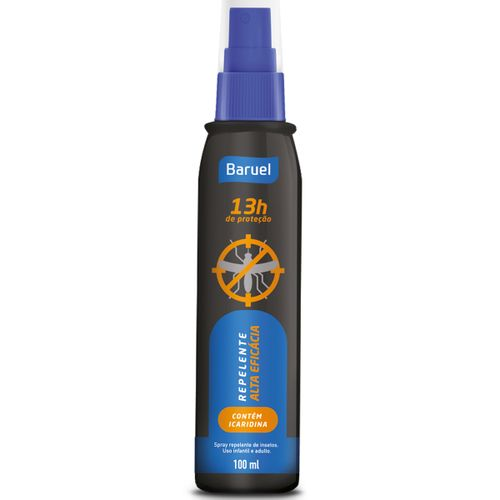 Repelente Baruel 13h Icaridina Spray 100ml