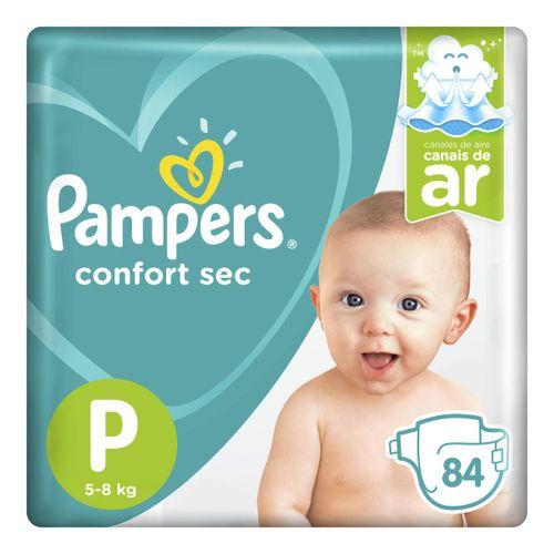 Fralda Pampers Confort Sec P 84 Unidades