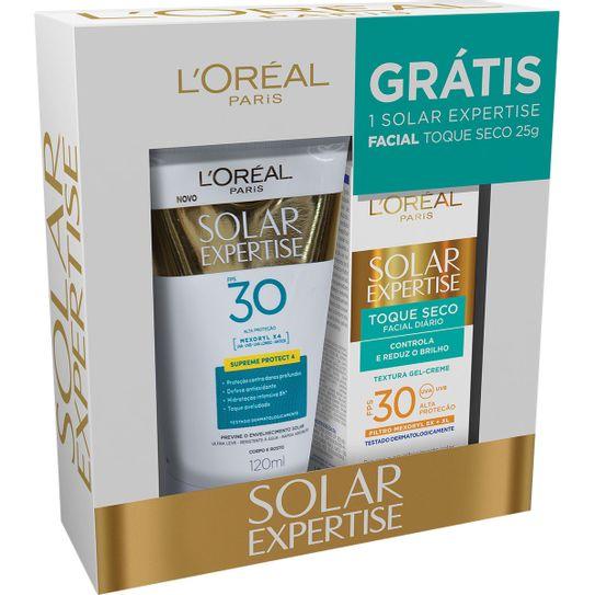 kit-protetor-solar-l-oreal-supreme-protect-4-fps30-120ml-mais-protetor-solar-l-oreal-facial-fps30-25g-principal