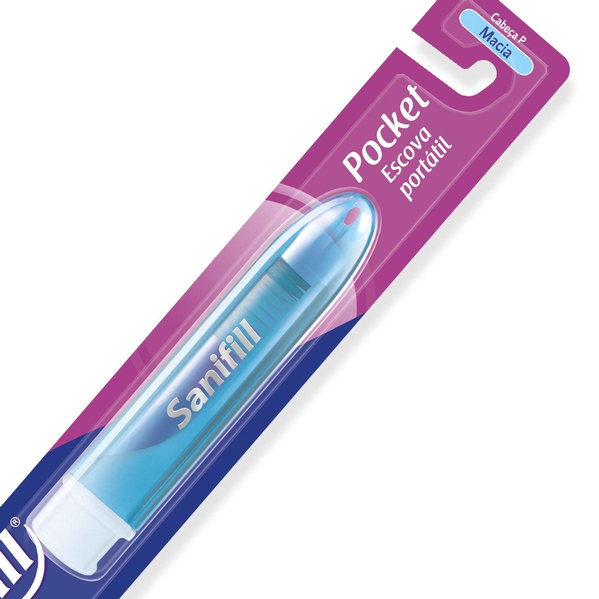 8d02babee Escova Dental Sanifill Pocket Macia 35 - Farmacias Pague Menos