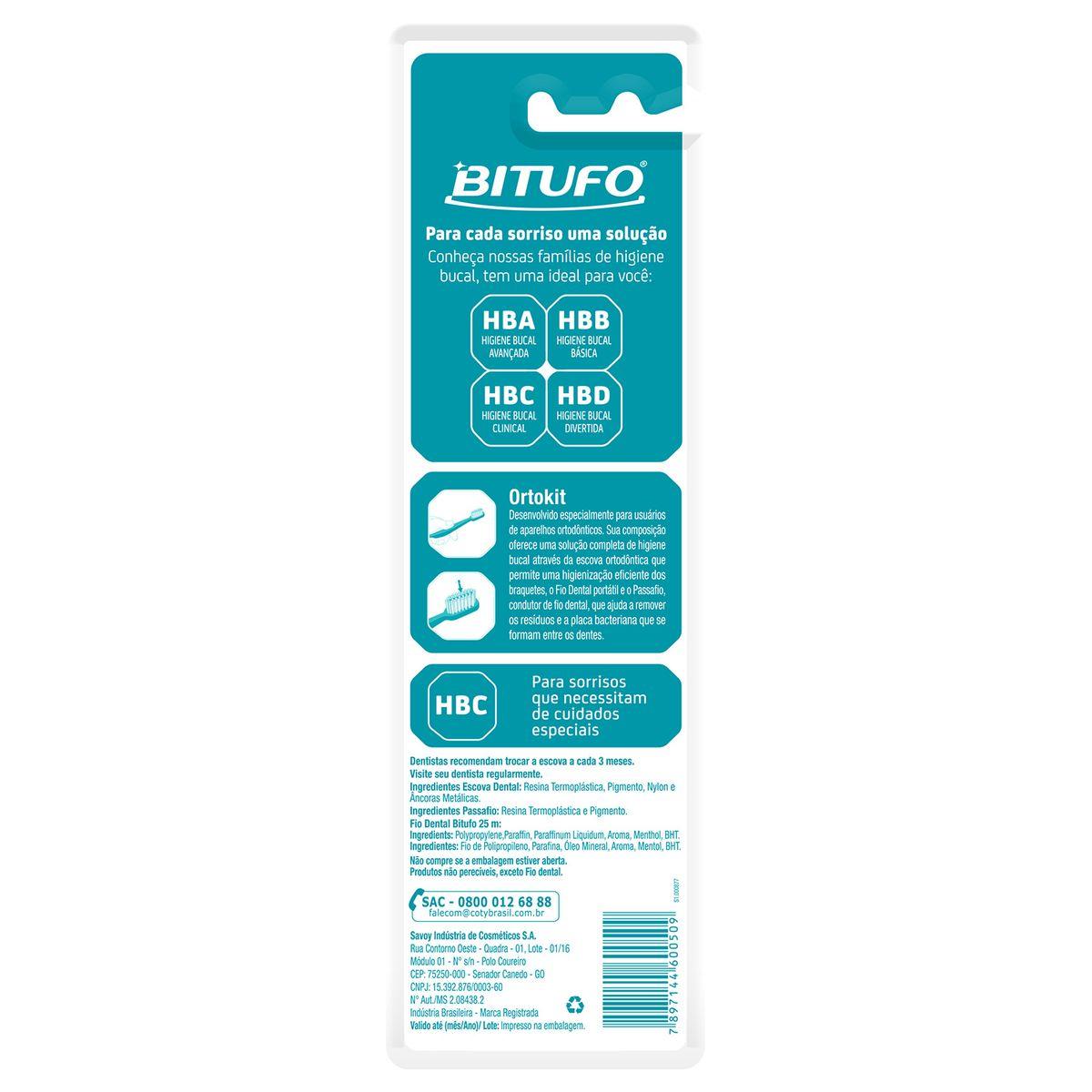 a8a7e9fce Escova Dental Bitufo Kit Ortodôntico Cônico - Farmacias Pague Menos