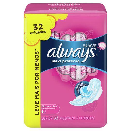 absorvente-always-maxi-protecao-suave-32-unidades-principal