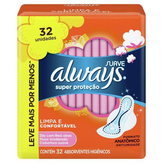absorvente-always-super-protecao-suave-com-abas-32-unidades-principal