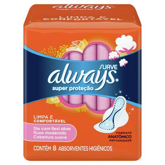 absorvente-always-super-protecao-suave-com-abas-8-unidades-principal