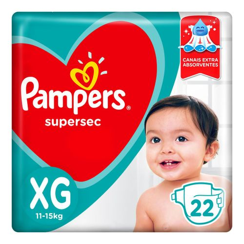 Fraldas Pampers Supersec Xg 22 Unidades