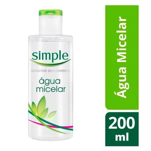 Água De Limpeza Simple  Micelar 200 Ml