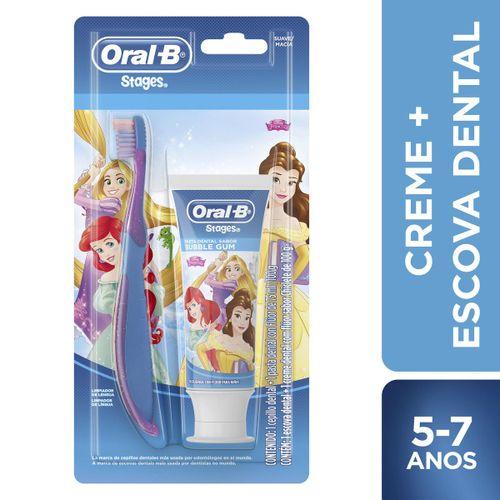 Kit Escova e Creme Dental Pro-Saúde Stages Carros-Princesas – 1 unidade