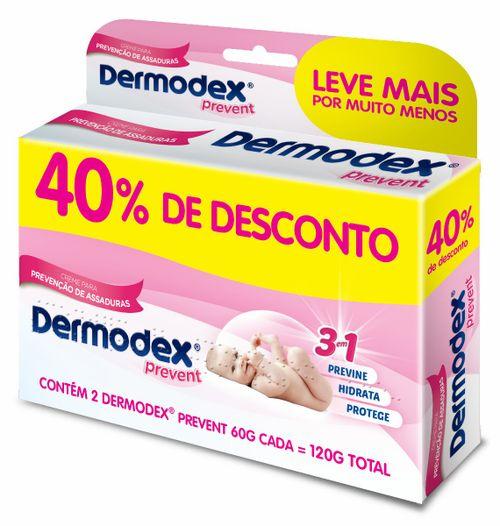 Dermodex Prevent Pomada Com 2 Unidades 60g Com 40% De Desconto