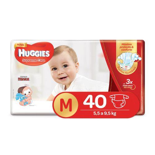 Fralda Huggies Supreme Care Mega Tamanho M Com 40 Unidades