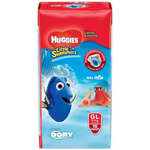 Fraldas Huggies Little Swimmers G Com 10 Unidades