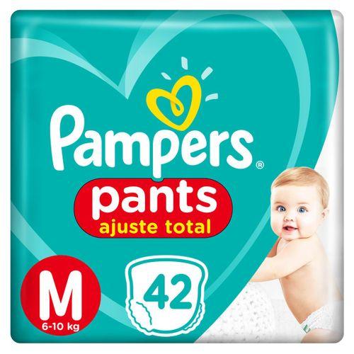 Fralda Pampers Pants Ajuste Total Mega Tamanho  M Com 42 Unidades