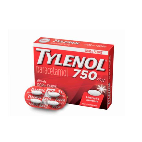Analgésico Tylenol Blister 750mg 4 Comprimidos