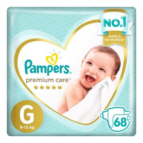 Fralda Pampers Premium Care G 68 Unidades