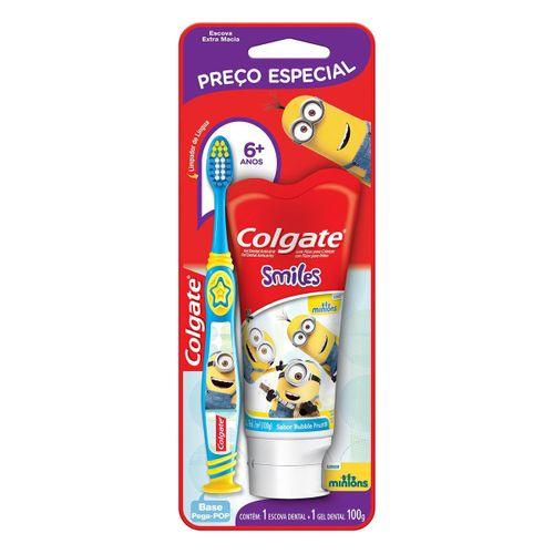Kit Oral Infantil Colgate Escova Dental + Creme Dental Minions 100ml C/ Preço Especial