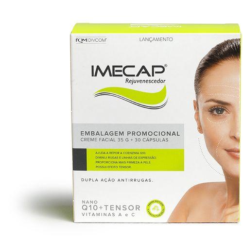 Kit Imecap Rejuvenescedor Creme Facil Antirrugas 35g+imecap Antissinais Com 30 Capsulas