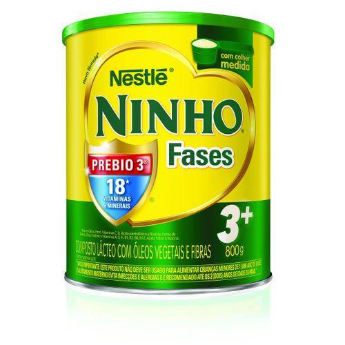 Leite Ninho Fases 3+ 800g
