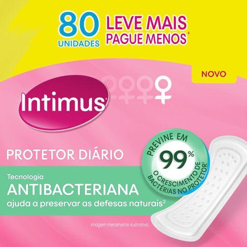 Protetor Diário Intimus Tecnologia Antibacteriana - 80 Unidades