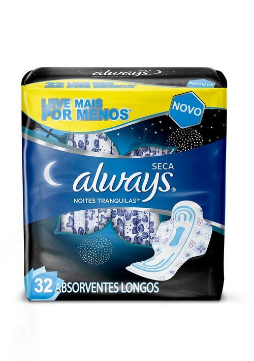 Absorvente Always Noites Seca Com Abas 32 Unidades