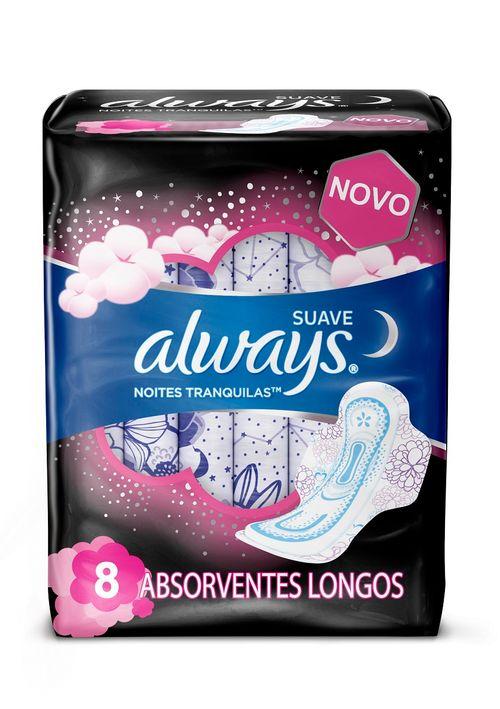 Absorvente Always Noites Suave Com Abas Leve 8 Pague 7