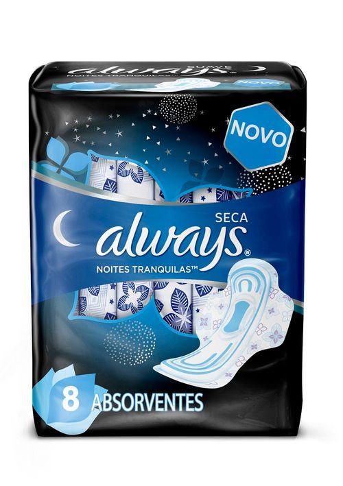 Absorvente Always Noites Seca Com Abas Leve 8 Pague 7